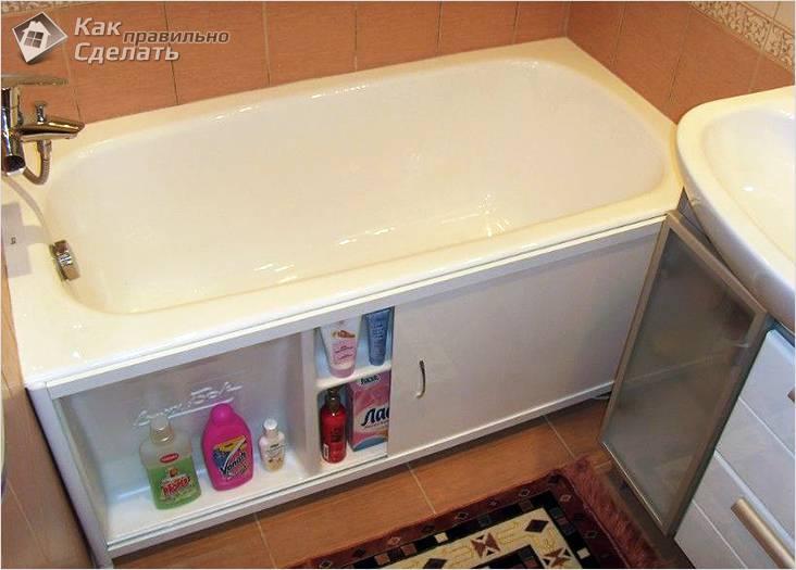 Как закрыть ванну сбоку своими руками 11