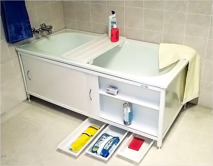 Боковая панель для ванной своими руками 24