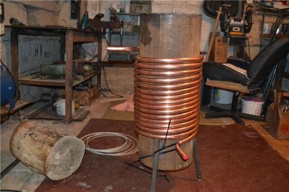 Как сделать котел для водяного отопления из трубы