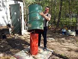 Как установить газ на даче своими руками 75